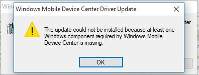 Windows Mobile device center #2
